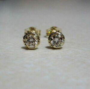 Brand New Halo 1/4ct Diamond 18ct Yellow Gold Stud Earrings £175 Freepost