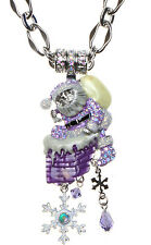 KIRKS FOLLY NAUGHTY OR NICE SANTA CHRISTMAS MAGNETIC ENHANCER NECKLACE ST/PURPLE