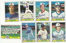 1979 TOPPS MAJOR LEAGUE BASEBALL CARDS – ATLANTA BRAVES – MLB