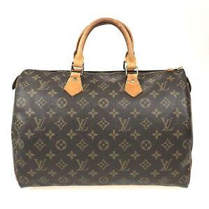 100% Authentic Louis Vuitton Monogram Speedy 35 Handbag M41524 [Used] {09-132C}