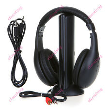 5 in 1 Hi-Fi Wireless Wired Headphones Headset Mic FM Radio Wireless Monitoring