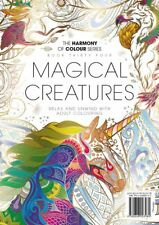 Harmony of Colour Book 34 MAGICAL CREATURES Adult Colouring 36 Designs NEW