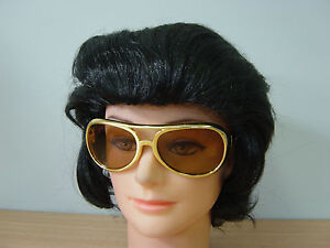 50s 60s Elvis Party Costume Wigs and Glasses Rock n Roll Star