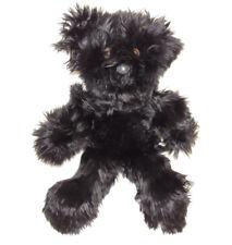 REAL FUR BLACK ALPACA TEDDY BEAR