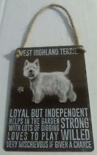 West Highland Terrier - Vintage Retro Shabby Chic Mini Metal Plaque Sign