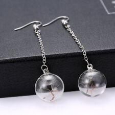 Jewelry Stud Earrings Dandelion Seeds Glass Bottle Drop Dangle Earrings