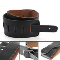 PU Leather Thick Strap Belt Sling Suspender For Electric Acoustic Guitar Bass