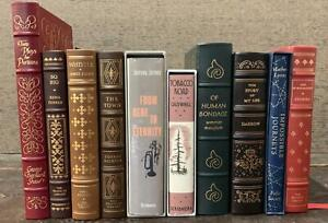 Lot of 10 Decorative Franklin Library Easton Press Folio Society & 1st facsimile