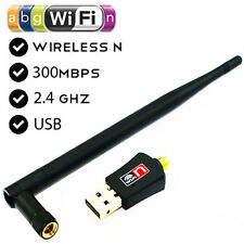 WIFI 300Mbps Wireless Adaptor Antenna 802.11 G N LAN Network USB Dongle Adapter