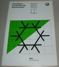 Schulungsunterlage BMW Grundlagen Klimaanlagen Sachkunde Stand Januar 1997!