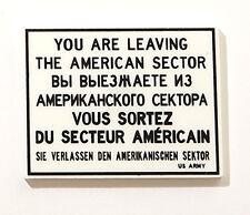 "Acryl Magnet ""You are leaving"" NEU/OVP Berlin Andenken Berliner Souvenir 6x8cm"