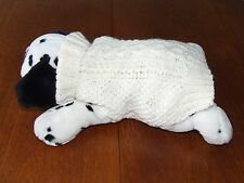 Hand Knitted New Puppy/Dog Jumper.Thick Aran Wool.Small Size 12-14 ins Long.