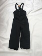 "Childs Quality Black Ski Salopettes  Sz  Waist 24"" "" VG #149"