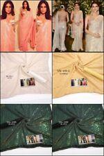 Bollywood Sari Saree Sequence Work Satin Banglori Silk Blouse Party Wear Ethnic