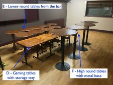 Pub, club or restaurant tables, chairs and stools. Pick & choose and message me