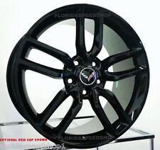"New C7 Z51 Style Gloss Black Corvette wheels 18/19"" Combo 2014-2017  C7 Stingray"
