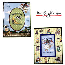 """2 Mary Engelbreit Mother Goose Picture Frames Humpty Dumpty & More 7"""" X 9"""" Read"""