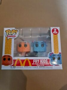 Funko Pop McDonalds Fry Kids 2 Pack AD Icons Vinyl Figure Guy Orange & Girl Cyan