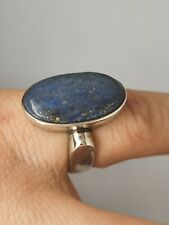Sterling Silver 925 size N blue agate relax peace positive energy ring