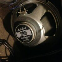 """Set of 2 Marshall Guitar Amp Speakers Celestion 12"""" MG Series Black Back G12-412"""