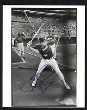 GLENN DAVIS Signed HOUSTON ASTROS 8x10 vintage black & white Photo