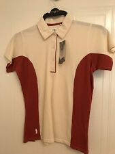 Glenmuir Rebecca coolflex performance polo winterwhite rust small B.N.W.T.