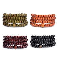 6mm*108 Tibetan Sandalwood Buddhist Buddha Prayer Beads Mala Bracelet