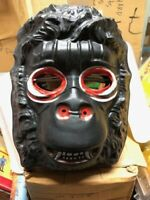 Vtg 70's Collegeville KING KONG vacuform Halloween Mask Gorilla old store stock