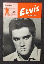 1966 ELVIS Presley Monthly v.7 #2 UK Fan Digest Magazine VG/FN 5.0