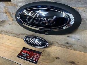 20-21 F250 F350 F450 Superduty Custom Painted Ford Front & Rear Emblem Oval Set