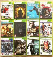 Lot XBOX360 12 jeux pour console Xbox 360 Skyrim, Hunted, Dark Sector, Fuel