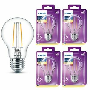 4er Pacco LED Lampadina 8718699648909 Philips Lampadina Filamento 2,2W Entspric
