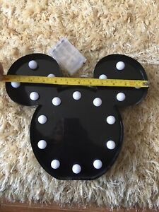 "LED Mickey Mouse Light Up Night Light Batteries 12"" x 11"" Decoration"
