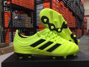 Adidas Junior Copa 19.1 FG Soccer Cleats (Solar Yellow/Black) Size: 11k-6y NEW!