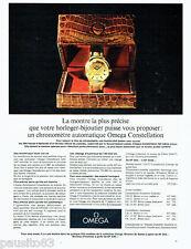 PUBLICITE ADVERTISING 056  1962   la montre Omega Constellation