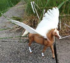 Malthen - CM Breyer LB/PP palomino Arabian mare pegasus with real quail wings