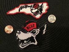 (2) Ncsu North Carolina State Wolfpack Vintage Embroidered Iron On Patch Lot