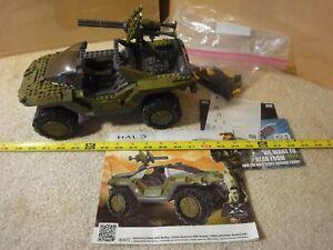 Rare! Mega Bloks Halo 10th Anniversary, large Warthog Tank, building set 96973