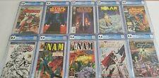 LOT OF (10) MARVEL DC CGC GRADED COMICS Ghost Rider Star Wars 1 Nam Avengers 195