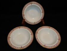 "B & C Co. L. Bernardaud & Co. Limoges BER678 6 1/4"" FRUIT BERRY BOWLS Lot x 3"