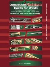 Compatible Christmas Duets For Winds: Clarinet/Trumpet/Baritone Treble Clef/Teno