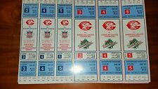 1987 WORLD SERIES and NLCS CINCINNATI REDS GAME 3,4,and 5  TICKETS