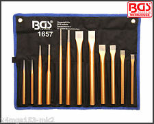 BGS - 12 Piezas Heavy Duty Pin conductor, Cincel & Punch Set-Pro gama - 1657