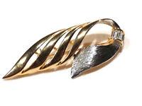 Bijou alliage doré broche intemporelle cristal baguette brooch