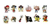 12 Pirate Tattoos – Temporary Water Transfer – Fun for Kids