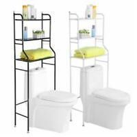 3 Shelf Metal Over The Toilet Bathroom Space Saver Towel Organizer Storage Rack