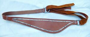 Anthropologie Wide Leather D-Ring Tie-on Belt - OS One Size