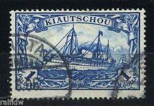 Kiautschou 1 $ Yacht 1905 Plattenfehler Michel 25 A I Attest (S9161)