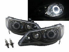 CSX 09-11 4D Guide LED Angel-Eye Headlight W/ Motor Smoke Taiwan for ACURA LHD