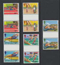 GB 1986 Commonwealth Games Edinburgh Gutter Pairs MNH SG1328-32 Hockey Rowing